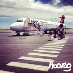 #TeamHooroo's @polycopy is en route to #Uluru for a red centre adventure!  All aboard at Alice Springs Airport @Qantasairways