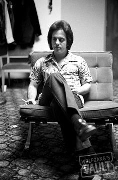 Billy Joel - 1974.  One of my first concerts was seeing Billy Joel at West Chester (then a State College) University in PA.  We sat in amazement on the gym floor and knew that we would be listening to the genius on the piano for many years to come.