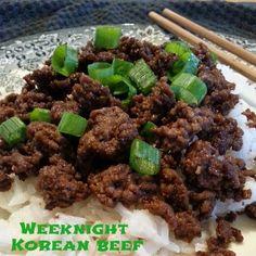 The Fresh Plate: Easy Weeknight Korean  Beef