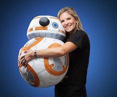 Hug this life-size plush BB-8 'Star Wars' droid - CNET