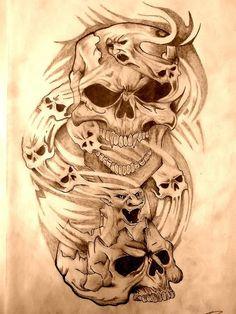 Tattoo Drawings Of Skulls | My Skull Tattoo Art by ~pinch1987 on deviantART