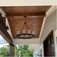 Mount Vernon Bronze 8 -Bulb H Outdoor Chandelier Outdoor Hanging Lights, Outdoor Chandelier, Patio Lighting, Diy Chandelier, Outdoor Ceiling Fans, Patio Ceiling Ideas, Porch Ceiling, Porch Roof, Front Porches