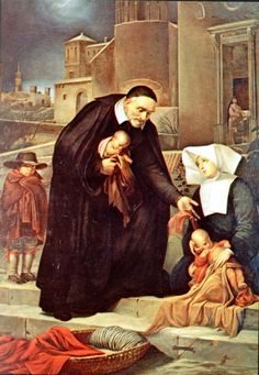 Saint Vincent de Paul.....caring for the poor of Paris.