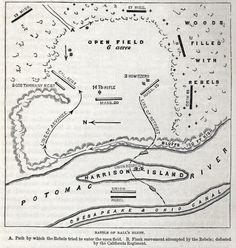 Ball's Bluff, Virginia, October, 21, 1861, battle map