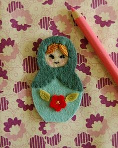 Little two and a half inch dolls, made to spread joy and cheer. These tiny girls love to be hung alongside the glowing lights of a tree o. Craft Activities For Kids, Crafts For Kids, Arts And Crafts, Craft Ideas, Matryoshka Doll, Tiny Dolls, Christmas Decorations, Christmas Ornaments, Wool Felt