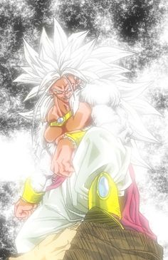 As if he wasn't powerful enough! Broly, with a mega boost of power, and new look, but same old bad ass.