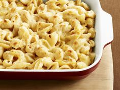 Three-Cheese Macaroni   Very interesting because they use cauliflower for extra creaminess