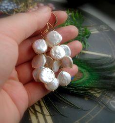 coin pearl bridal earrings http://madebysam.ca/earring.html