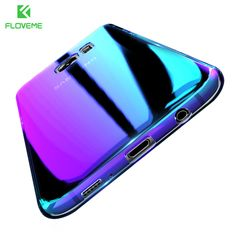 FLOVEME Changing Color Case For Samsung Galaxy S8 S6 Case S8+ S7 Edge Plating Gradual Cover For iPhone 7 6 5 Xiaomi Mi5 6 Huawei