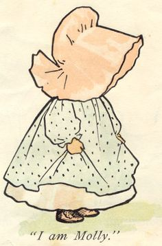 the Original Sunbonnet Sue by creator/illustrator Bertha L. Corbet, 1902, The Sunbonnet Babies' Book