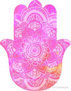 Pink Hamsa