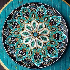 sorry for the qualityI dont know why((( the original version is good SkillOfKing. Mandala Art, Mandala Design, Mandalas Painting, Mandala Rocks, Mandala Drawing, Mandala Pattern, Pattern Art, Mandala Canvas, Dot Art Painting