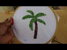 Hand Embroidery Video: Coconut Tree Stitching by Amma Arts - YouTube