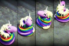 Lady Rainicorn from Adventure Time made out of polymer clay