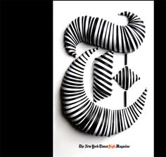 Jerome Corgier layers paper to create 3-d typography