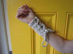 Balls to the Walls Knits: Spiral Column Cuff