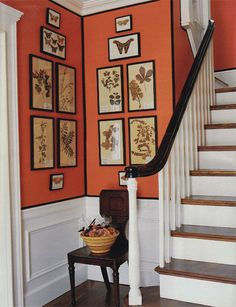 So warm and welcoming and current!  I love the orange and trim...never thought of doing that.