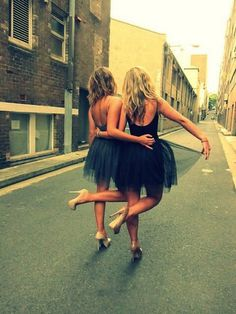 Long hair don't care hipster indie tumblr girl best friends tutus street