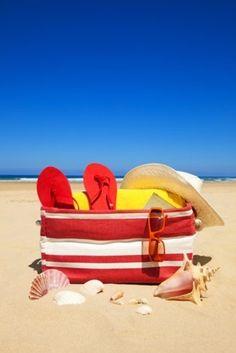 The Beach!  Love the red/white stripe