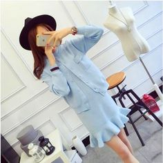 43.62$  Buy here - http://aio5d.worlditems.win/all/product.php?id=32692664069 - Korean Maternity Dress Gown Chiffon Clothes For Pregnant Women Vestido Gravida Pregnancy Maternity Dress Wear 502175