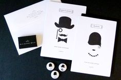 FAME Open House Invitation with Roaring 20's theme  |  Paperspecs