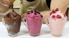 Low Carb Eis, Sugar Free Ice Cream, Confort Food, Frozen Treats, Healthy Desserts, Paleo Recipes, Vegan Vegetarian, Mousse, Clean Eating