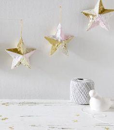 DIY STAR : DIY Fringed Ornament Garland