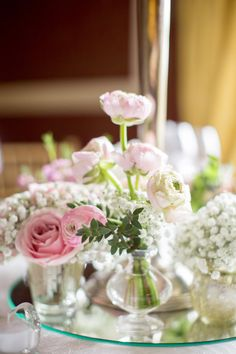 Photo collection by Brosnan Photographic Flower Centerpieces, Table Centerpieces, Table Decorations, Christening, Floral Wedding, Reception, Rose, Florals, Inspiration
