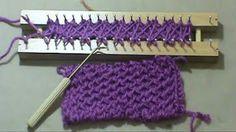 beautiful cross stitch using a nail loom ponto cruz no tear de pregos