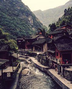 A Miao village, Hunan province, China
