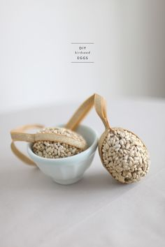 Because it's not nice to forget about our little buddies outside, our resident DIYer has come up with this fabulous little treat for our fellow feathered friends. Hung from the branches outside your home, these DIY birdseed eggs gently sparkle in the sun and are guaranteed to attract the prettiest of spring birds to your…