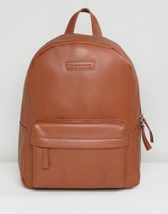 ASOS -  Smith And Canova Smith And Canova Leather Backpack In Tan - Tan 257d3a1ff0d4c