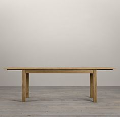 Drifted Oak Parson's Rectangular Extension Table | Rectangular Dining Tables | Restoration Hardware
