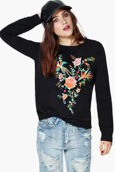 Hummingbird Heartbeat Sweatshirt  - Nasty Gal Fashion