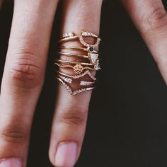 We've got a thing for pretty rings. All layered up in Adornmonde Pax and Remus rings set. If you love these then you can check out our complete collection here: www.adornmonde.com