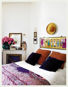 Bedside Flowers and Mirror