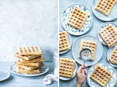 Recipe for PROPER WAFFLES. Food photography and styling. Beata Lubas/Bea's cookbook