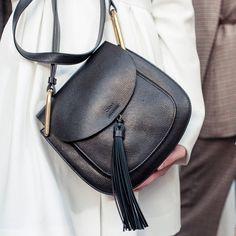 Leather tassel bag, chic accessories // Chloe