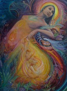 """The divine feminine is the creative force that is within all things and all people, including the masculine. It is the nourishing, powerful, life-giving energy of love, compassion, peace, and transformation. It is a deep well of ancient knowing, with roots that stretch back through time itself."" - The Power of the Divine Feminine by C. Ara Campbell"