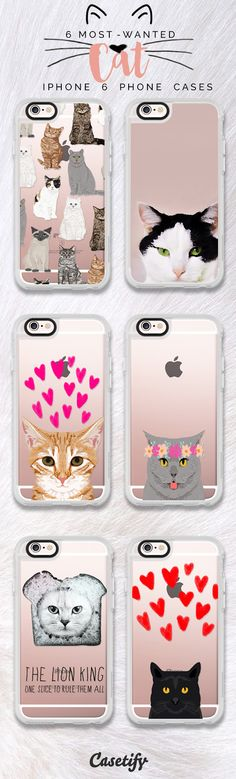 Top 6 Cats iPhone 6 protective phone case designs | Click through to see more iPhone phone case idea. For the love of your pet, your furry friednds! >>> https://www.casetify.com/collections/iphone-6s-swan-cases#/?device=iphone-6s | @casetify https://www.casetify.com/collections/iphone-6s-cat-cases#/?device=iphone-6s