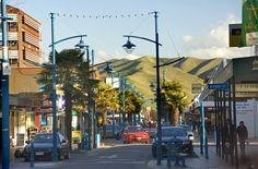a street in Blenheim, Marlborough region, New Zealand // heart of NZ wine country on the South Island