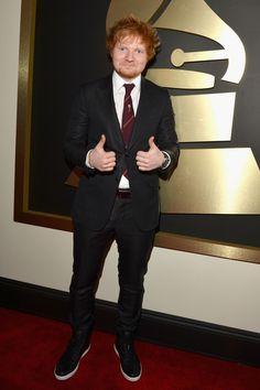 Ed Sheeran at the Grammys 2014