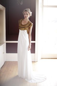 Temperley London Bridal 2011 beautiful goddess white Egyptian dress.