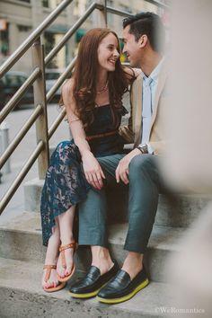 Laid-back New York Engagement Shoot | http://brideandbreakfast.ph/2015/02/02/lighthearted-loveliness/ | Photography: WeRomantics