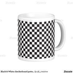 Black & White checkerboard pattern Coffee Mug