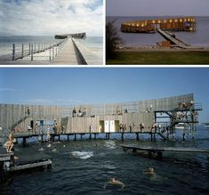 """""""Outside of Copenhagen, the Kastrup Sea Bath is more an interactive sea structure than a well-defined swimming space – a way to provide infrastructure for water activities without detracting from the boundless beauty of the surrounding sea."""""""