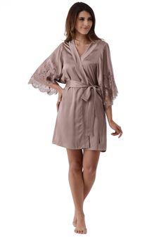 2872b5f826 Silk women nightwear robes--Gray-Purple robes  Silk  robes