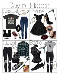 """""""Percy Jackson Outfit Challenge    Day 5: Hades    Baylee Tuned"""" by teganesme on Polyvore featuring River Island, Asha by ADM, Frye, Lime Crime, AMIRI and Converse"""