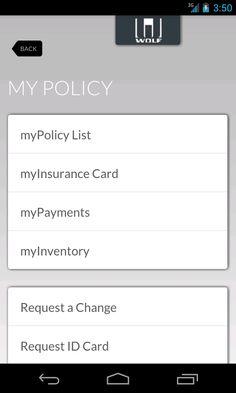myInsurance - Wolf Agency- screenshot