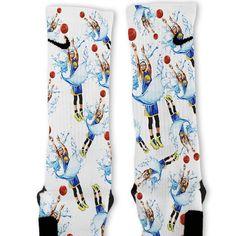 We custom design and print all of our Steph Curry Splash Threes Custom Nike Elite Socks Custom Nike Elite Socks. We print all orders on demand and no two pairs are identical. Nike Elite Socks, Nike Socks, Crazy Socks, Cool Socks, Awesome Socks, Nike Basketball Socks, Wsu Basketball, Basketball Stuff, Socks